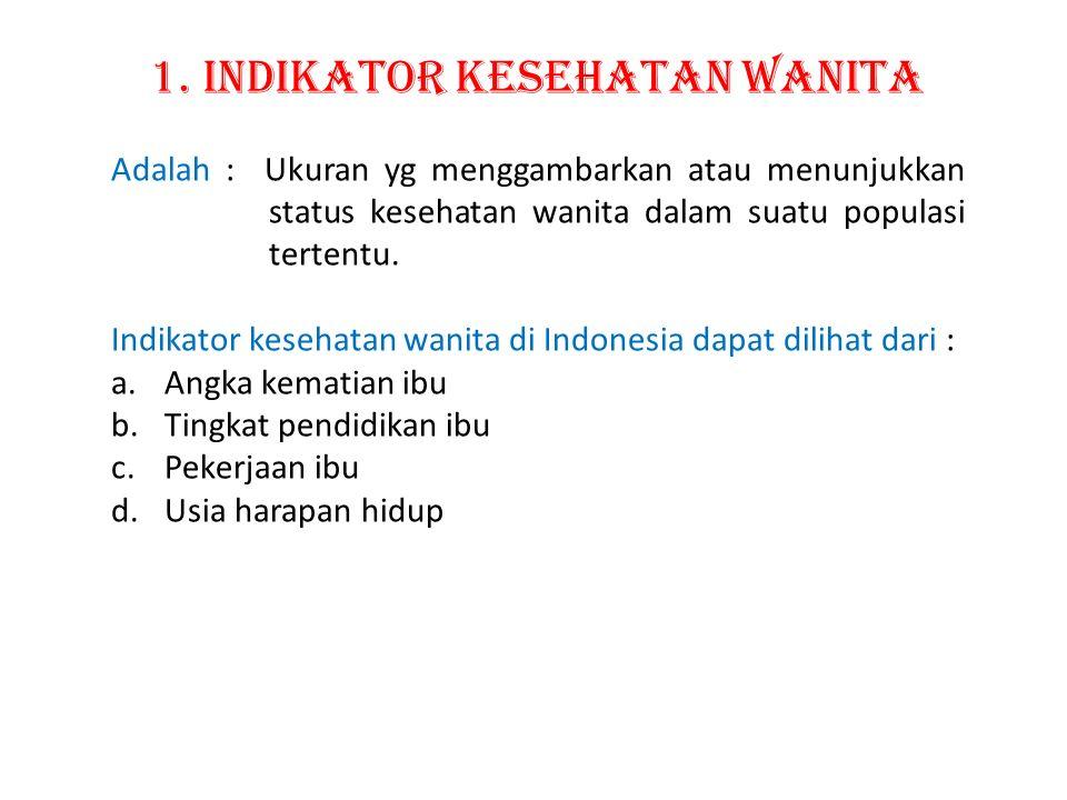 1. Indikator Kesehatan Wanita