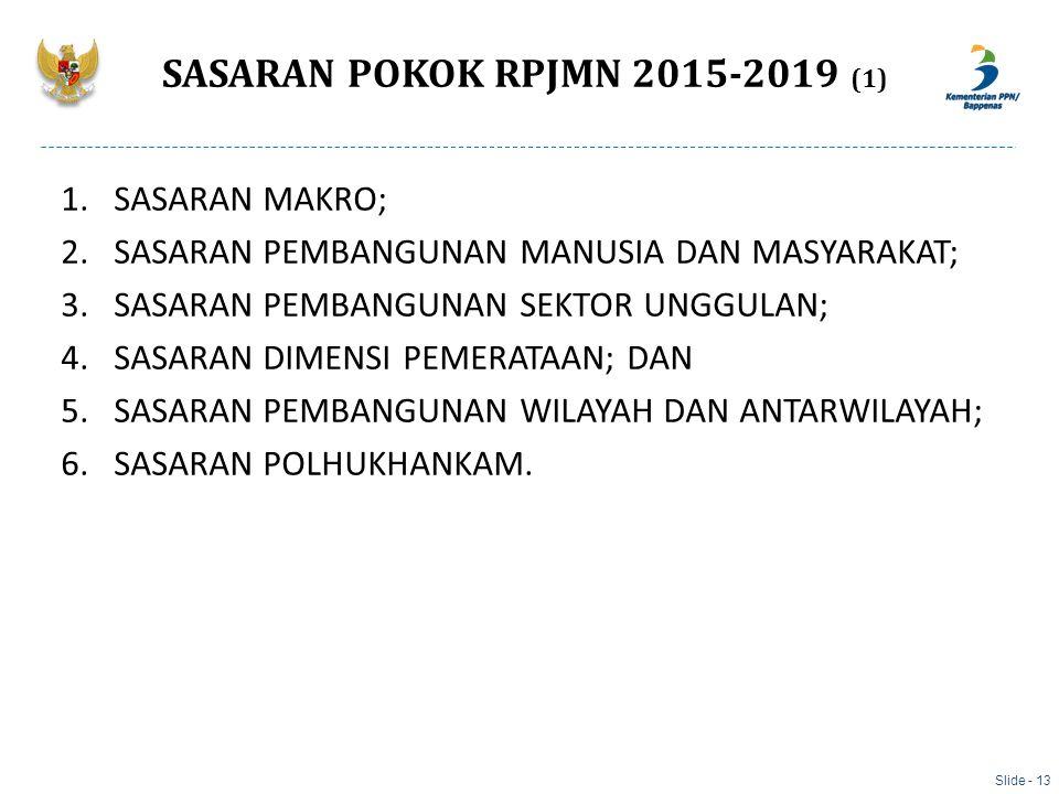 SASARAN POKOK RPJMN 2015-2019 (1)