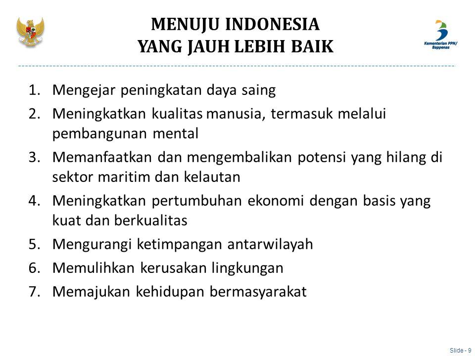 MENUJU INDONESIA YANG JAUH LEBIH BAIK