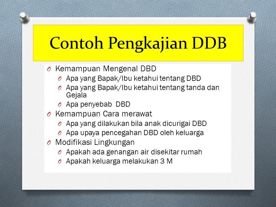 Contoh Pengkajian DDB Kemampuan Mengenal DBD Kemampuan Cara merawat