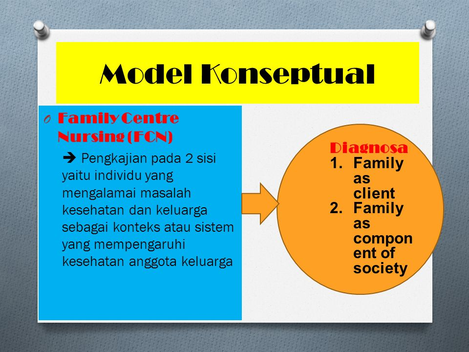 Model Konseptual Family Centre Nursing (FCN) Diagnosa Family as client