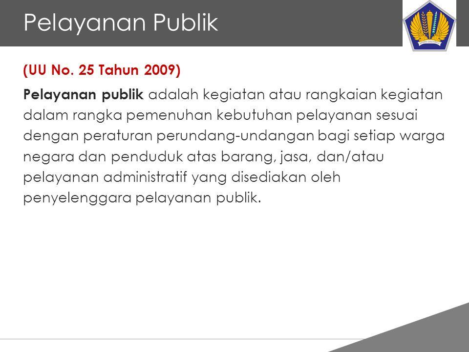 Pelayanan Publik (UU No. 25 Tahun 2009)
