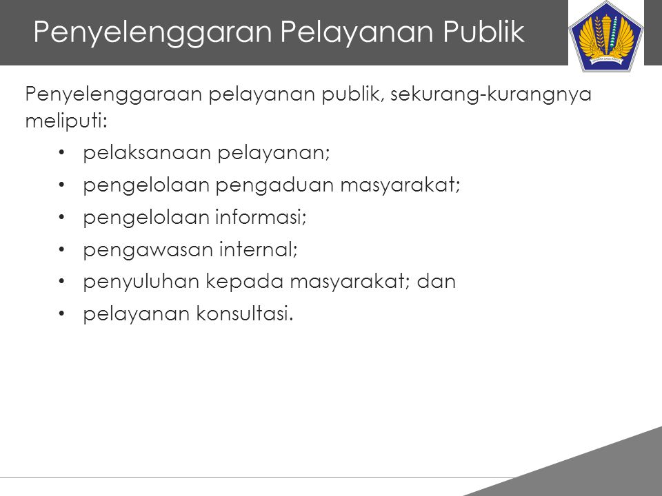 Penyelenggaran Pelayanan Publik