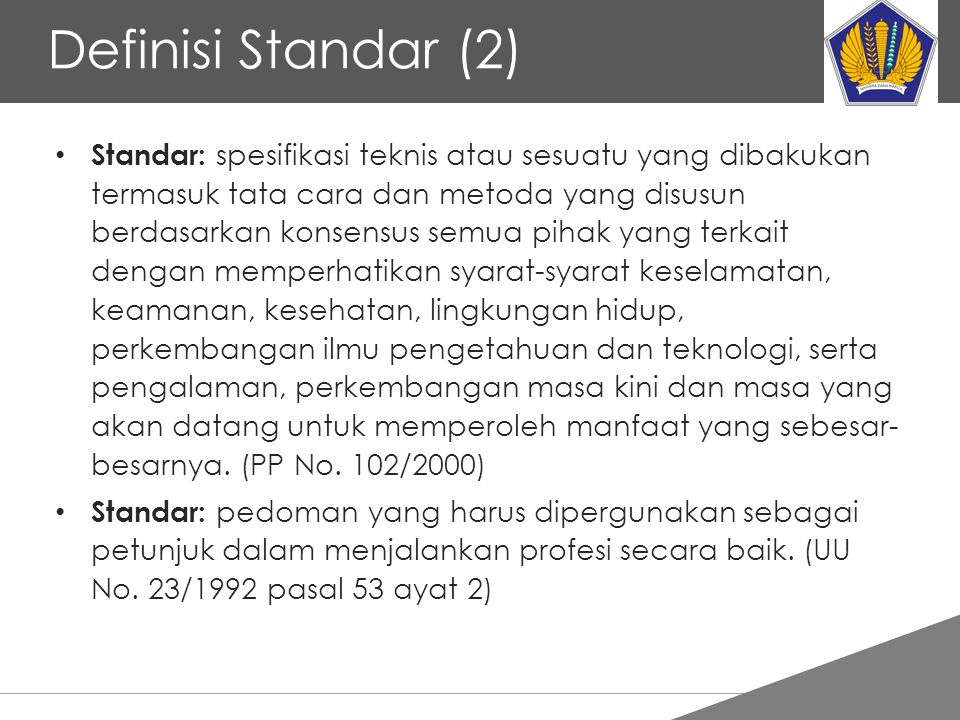 Definisi Standar (2)