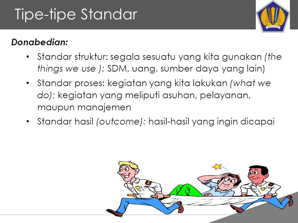 Tipe-tipe Standar Donabedian: