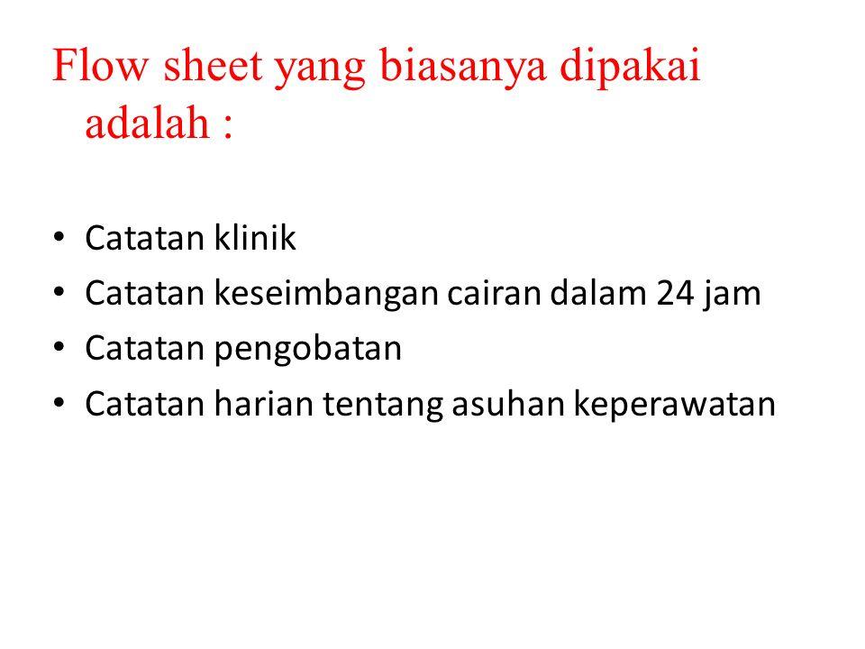 Flow sheet yang biasanya dipakai adalah :