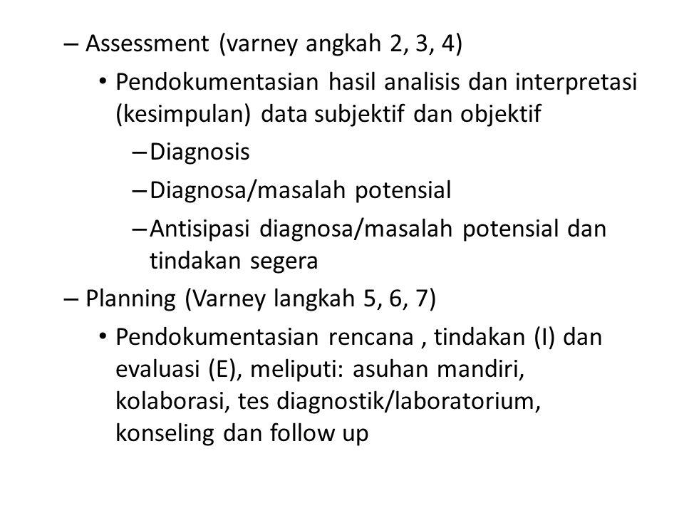 Assessment (varney angkah 2, 3, 4)