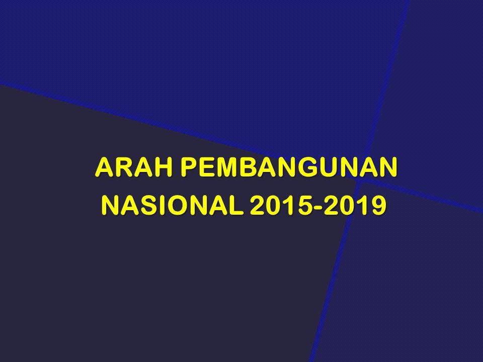 ARAH PEMBANGUNAN NASIONAL 2015-2019