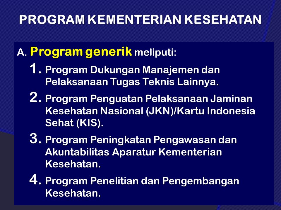 Program Kementerian Kesehatan