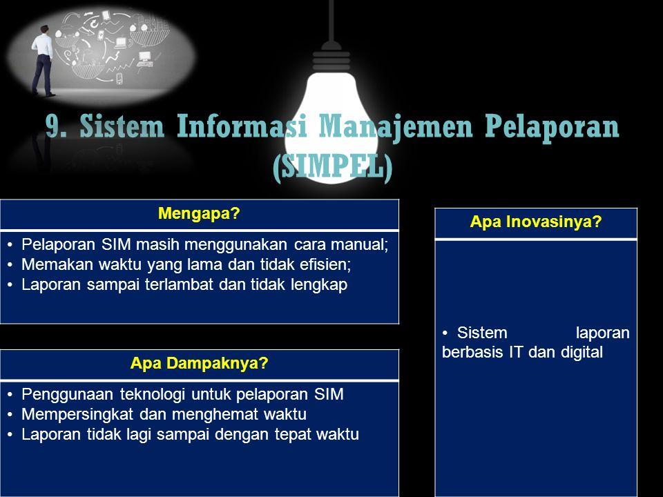9. Sistem Informasi Manajemen Pelaporan (SIMPEL)