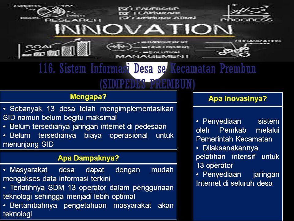 116. Sistem Informasi Desa se Kecamatan Prembun (SIMPEDES PREMBUN)