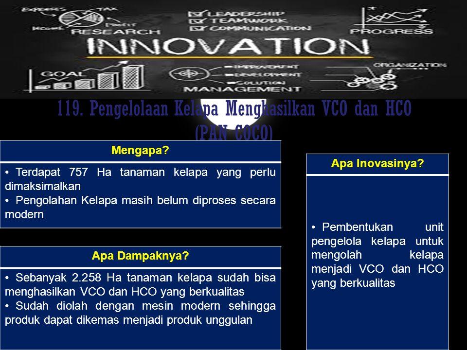 119. Pengelolaan Kelapa Menghasilkan VCO dan HCO (PAN COCO)