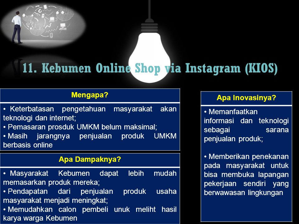 11. Kebumen Online Shop via Instagram (KIOS)