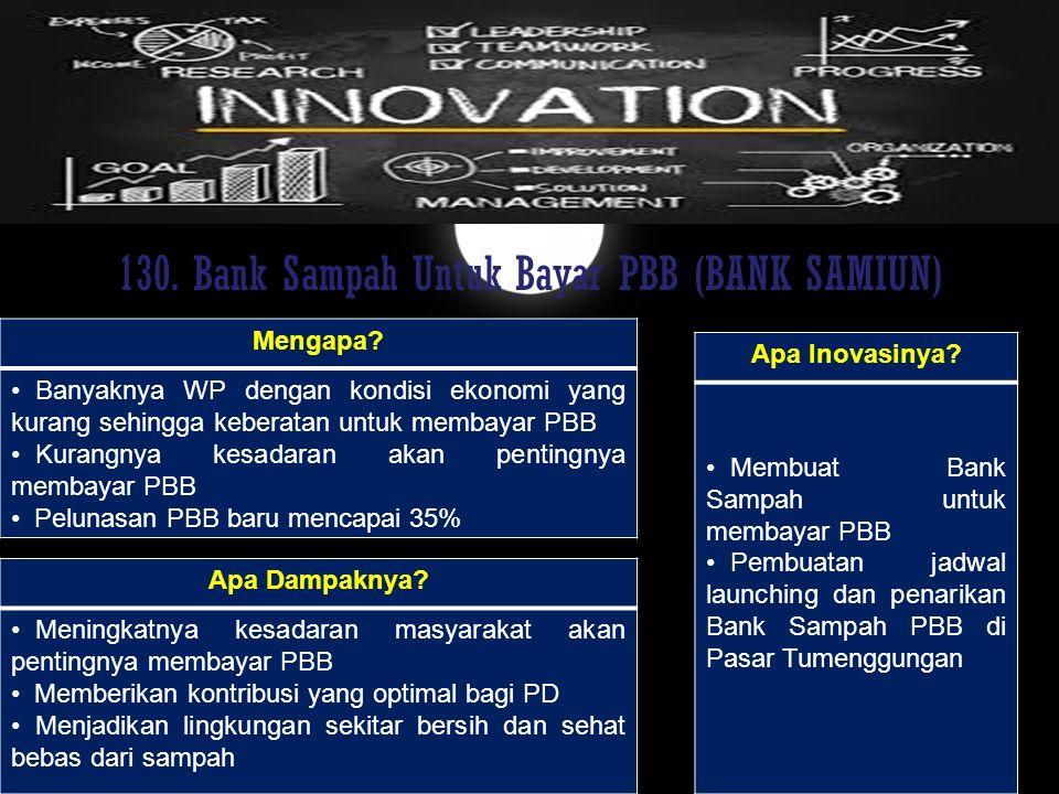130. Bank Sampah Untuk Bayar PBB (BANK SAMIUN)