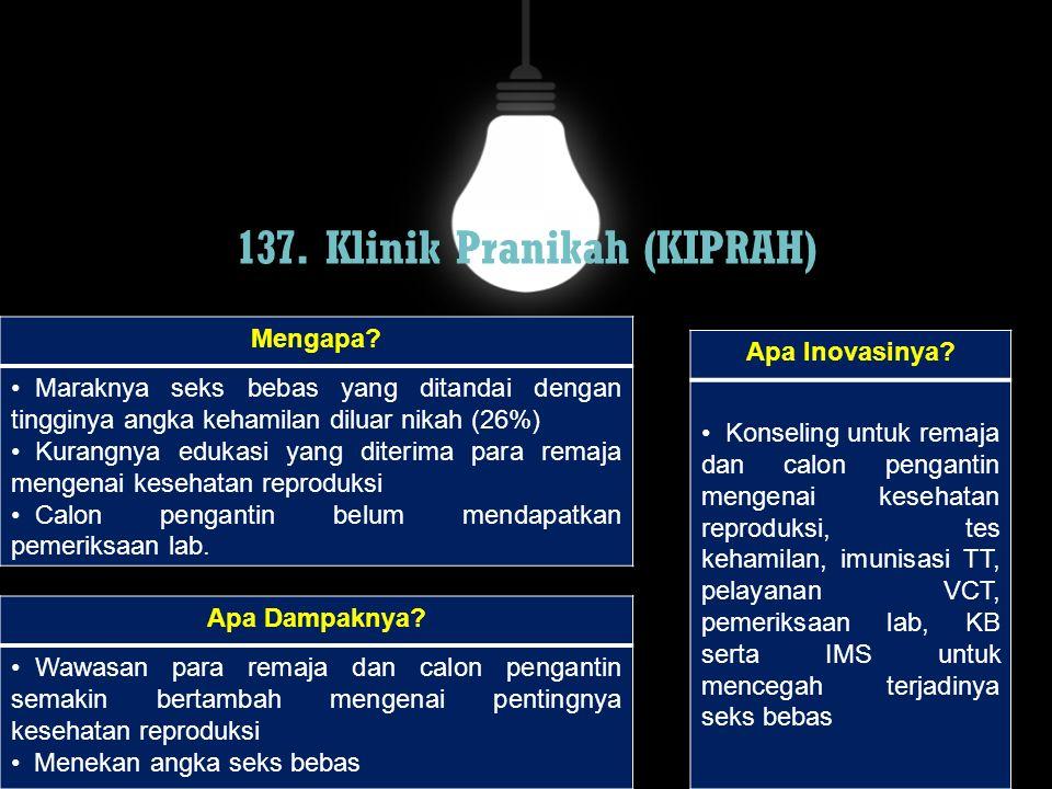137. Klinik Pranikah (KIPRAH)