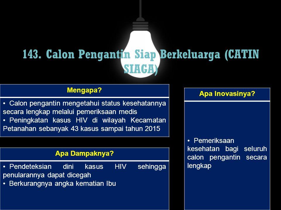 143. Calon Pengantin Siap Berkeluarga (CATIN SIAGA)