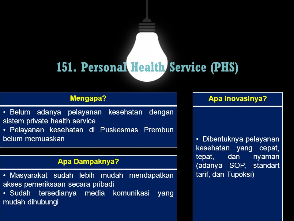 151. Personal Health Service (PHS)