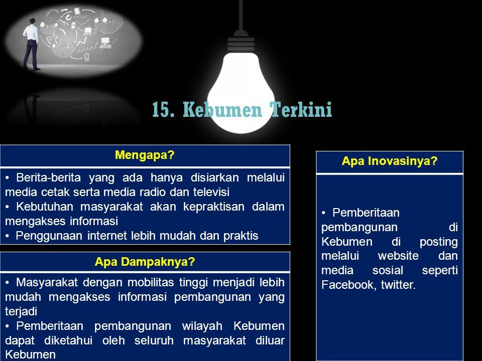 15. Kebumen Terkini Mengapa Apa Inovasinya