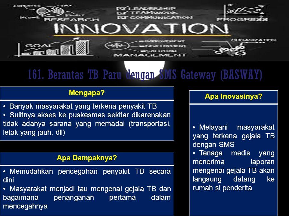161. Berantas TB Paru dengan SMS Gateway (BASWAY)