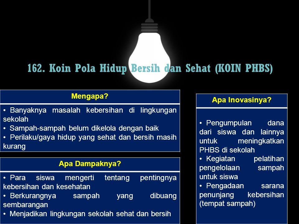 162. Koin Pola Hidup Bersih dan Sehat (KOIN PHBS)