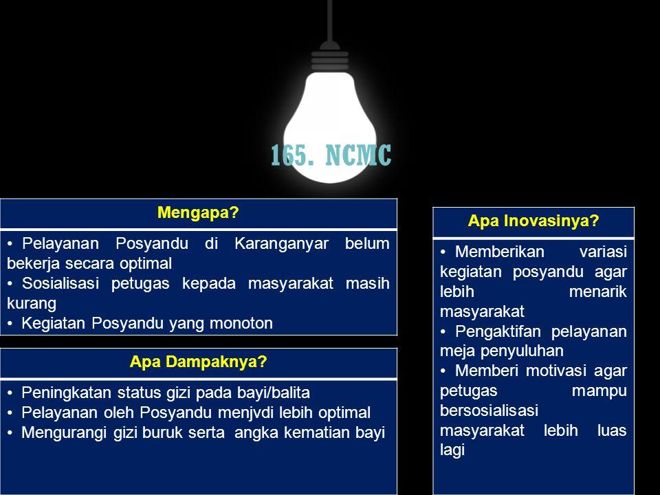 165. NCMC Mengapa Apa Inovasinya