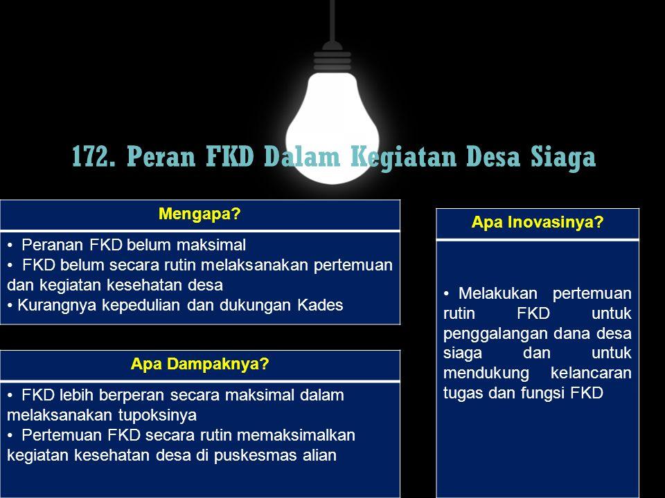 172. Peran FKD Dalam Kegiatan Desa Siaga