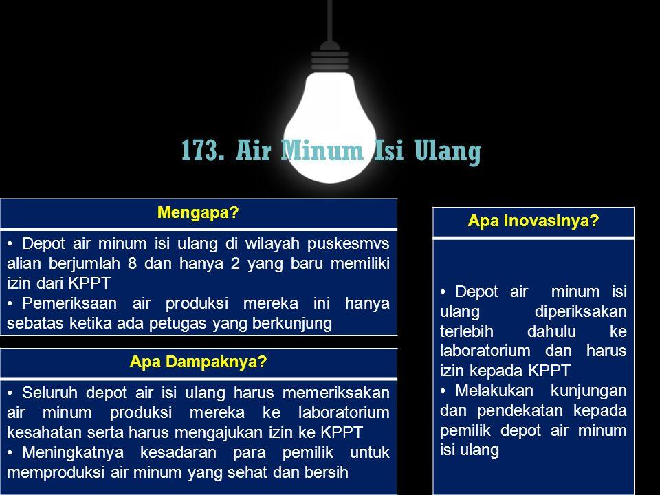 173. Air Minum Isi Ulang Mengapa Apa Inovasinya