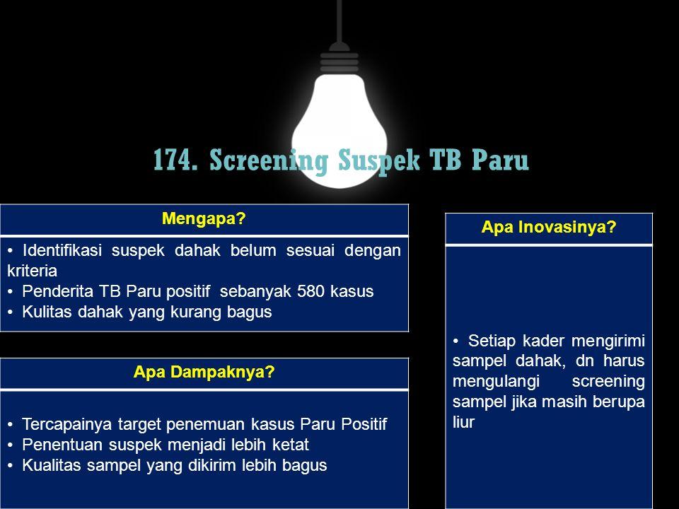 174. Screening Suspek TB Paru