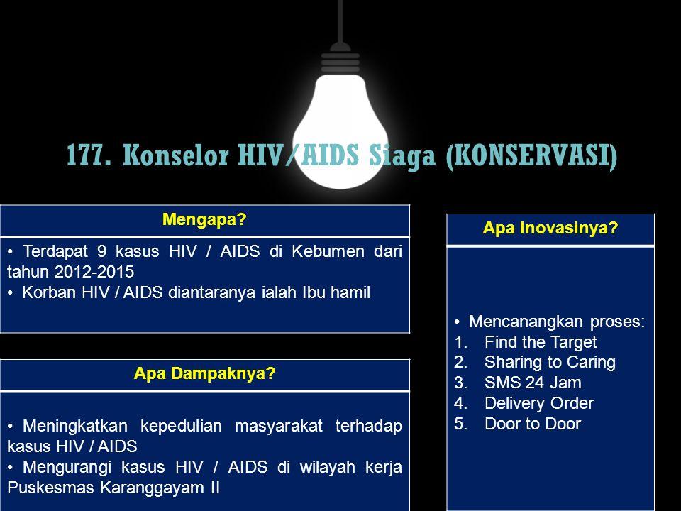 177. Konselor HIV/AIDS Siaga (KONSERVASI)