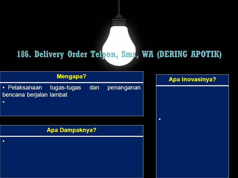 186. Delivery Order Telpon, Sms, WA (DERING APOTIK)