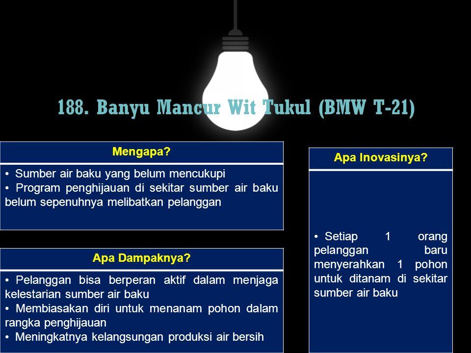 188. Banyu Mancur Wit Tukul (BMW T-21)