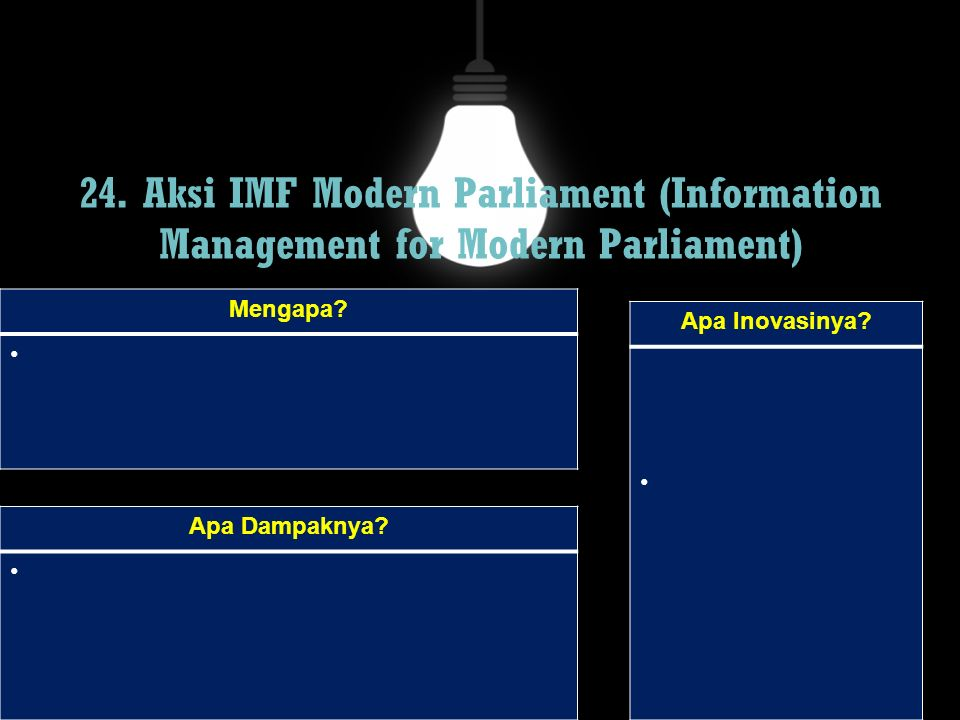 24. Aksi IMF Modern Parliament (Information Management for Modern Parliament)