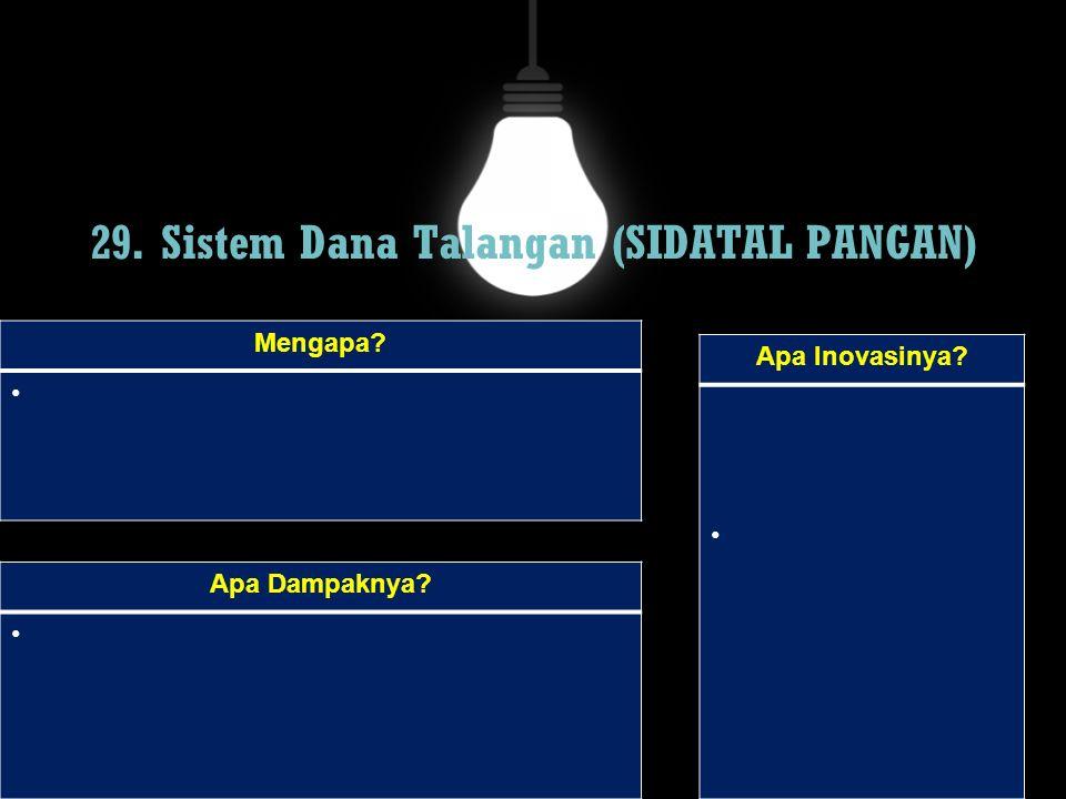 29. Sistem Dana Talangan (SIDATAL PANGAN)