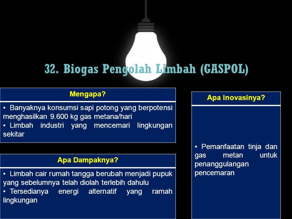 32. Biogas Pengolah Limbah (GASPOL)