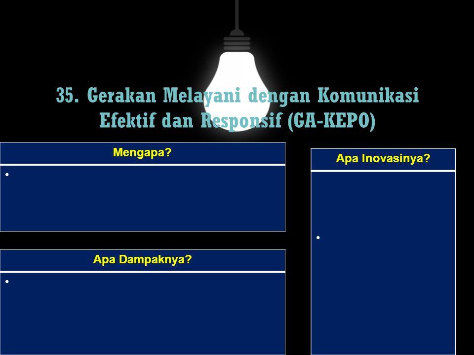 35. Gerakan Melayani dengan Komunikasi Efektif dan Responsif (GA-KEPO)