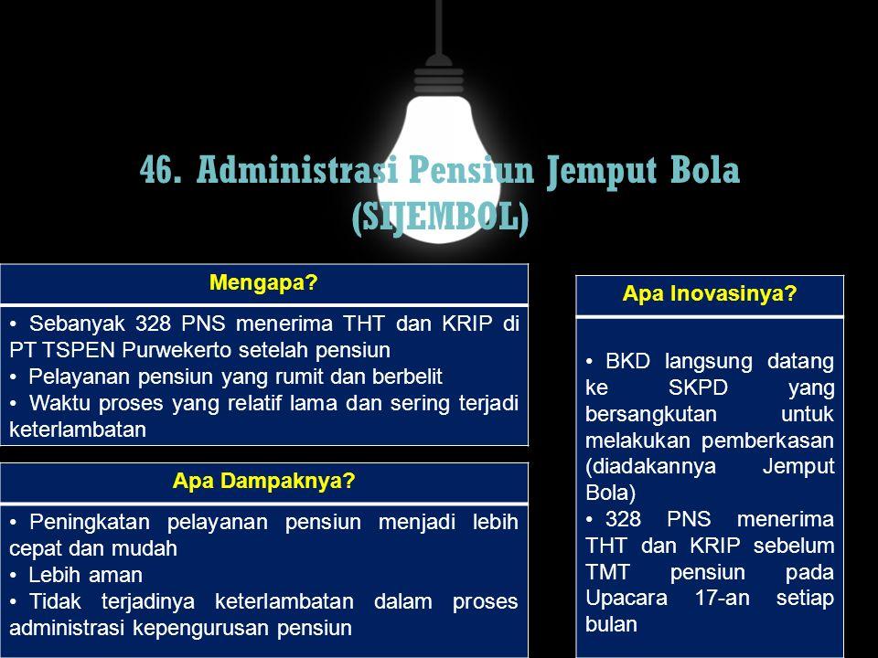 46. Administrasi Pensiun Jemput Bola (SIJEMBOL)