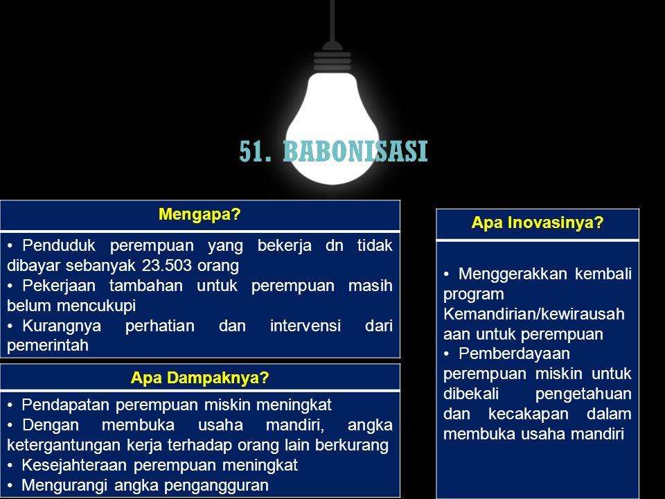 51. BABONISASI Mengapa Apa Inovasinya
