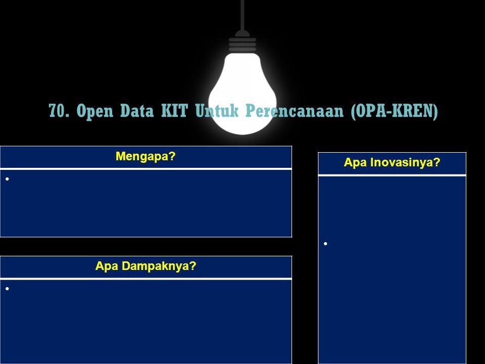 70. Open Data KIT Untuk Perencanaan (OPA-KREN)