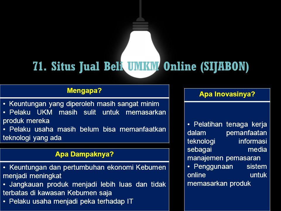 71. Situs Jual Beli UMKM Online (SIJABON)