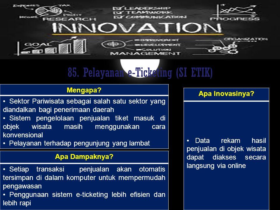 85. Pelayanan e-Ticketing (SI ETIK)