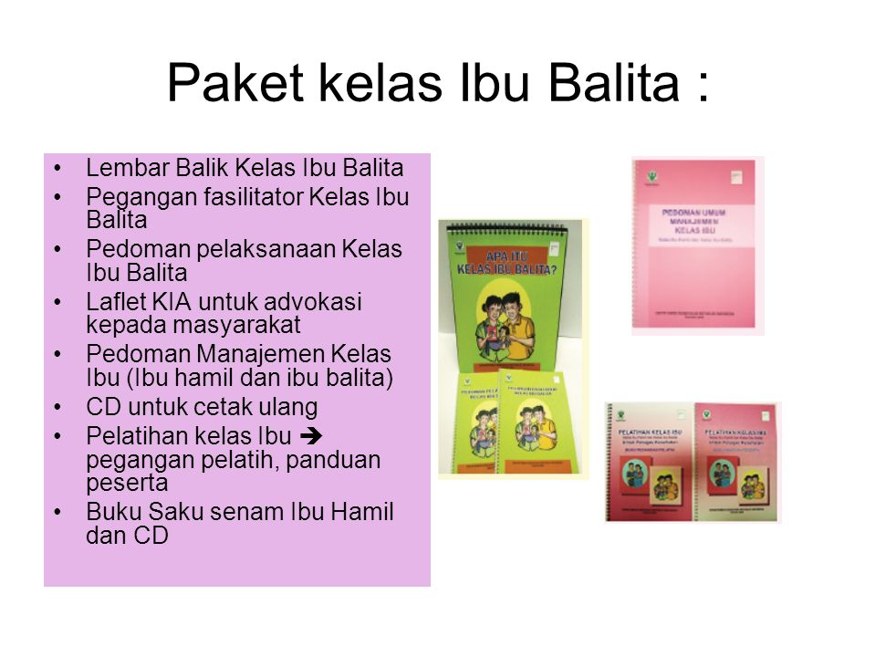 Paket kelas Ibu Balita :