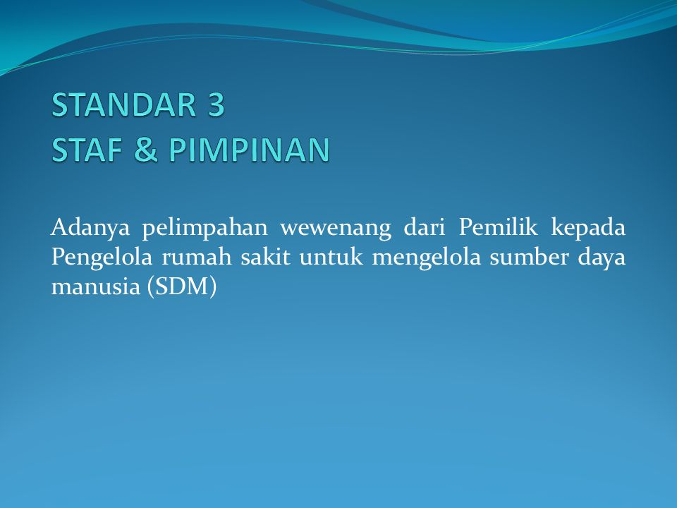 STANDAR 3 STAF & PIMPINAN