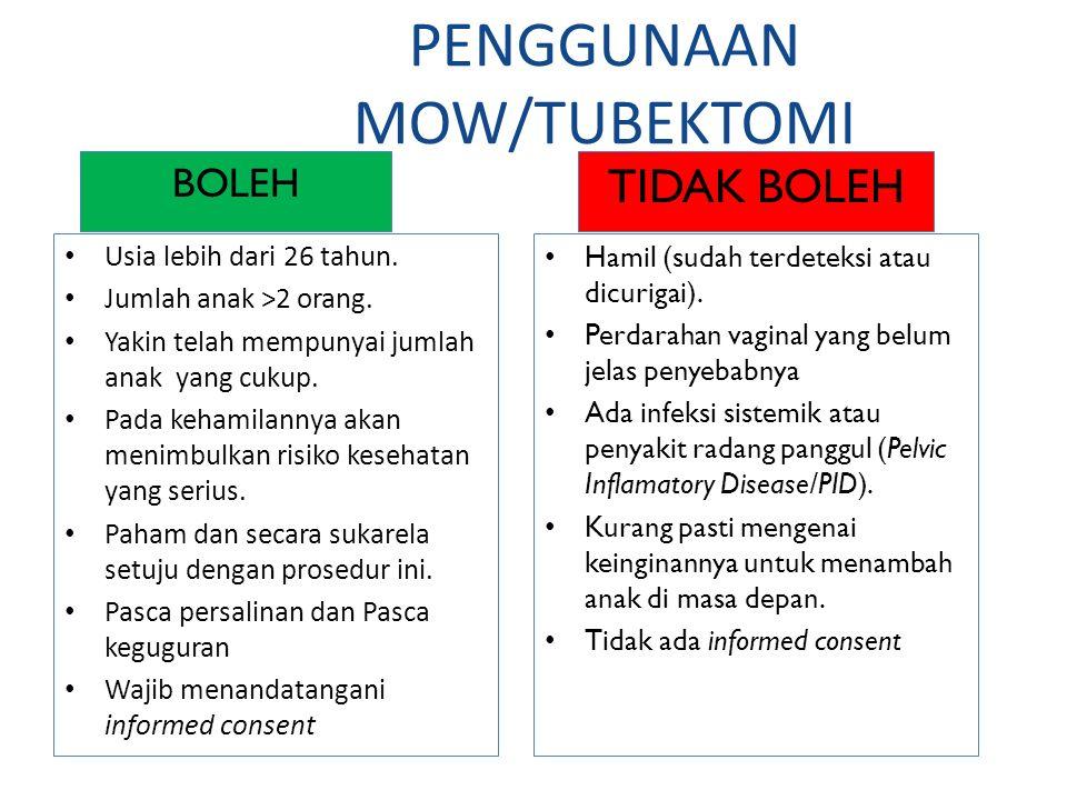 PENGGUNAAN MOW/TUBEKTOMI