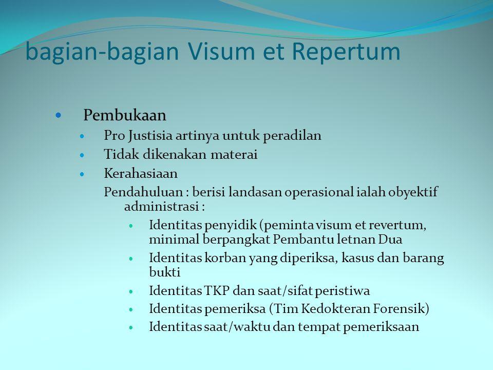 bagian-bagian Visum et Repertum