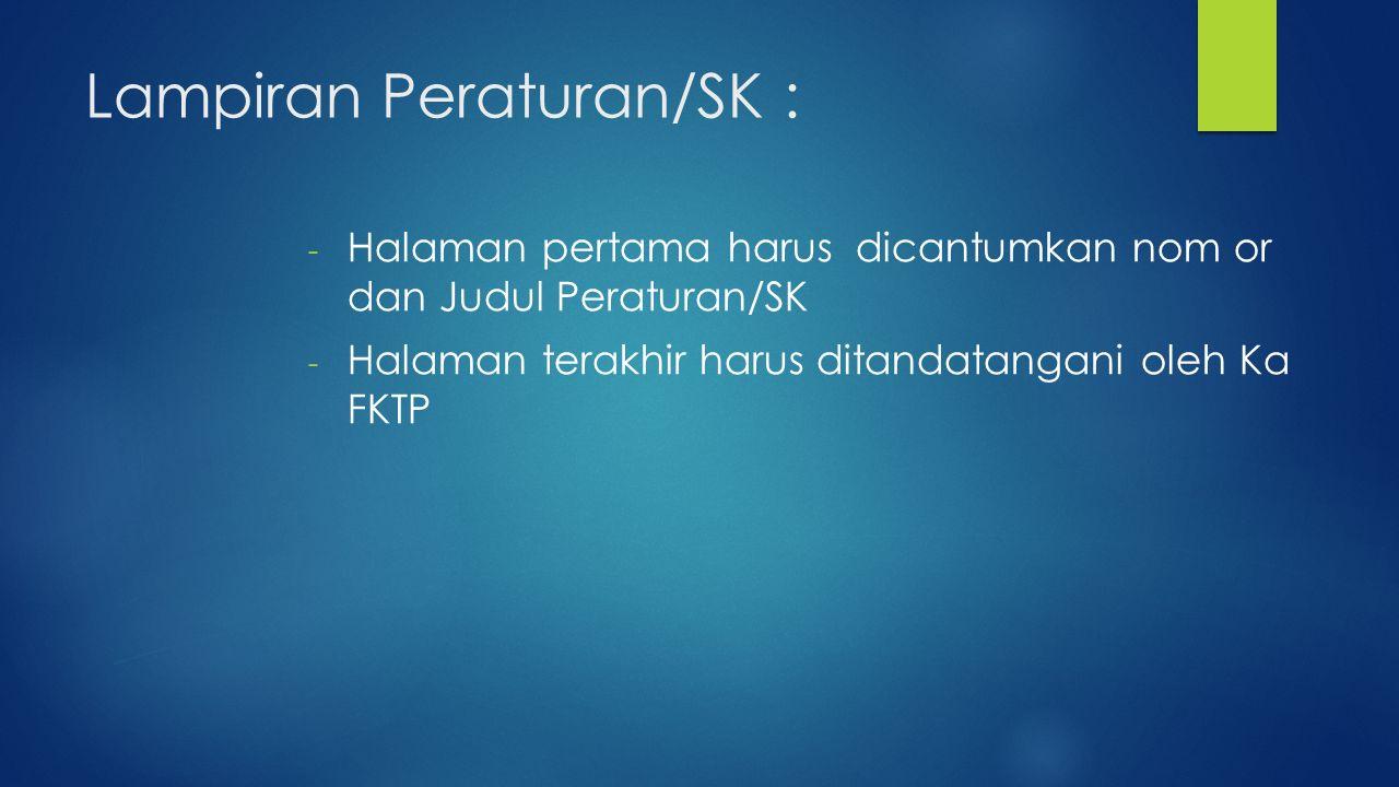 Lampiran Peraturan/SK :