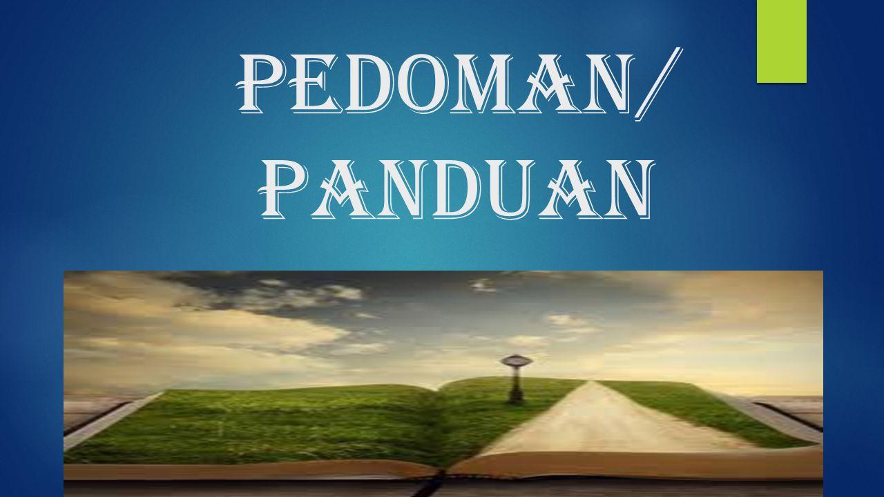 PEDOMAN/panduan
