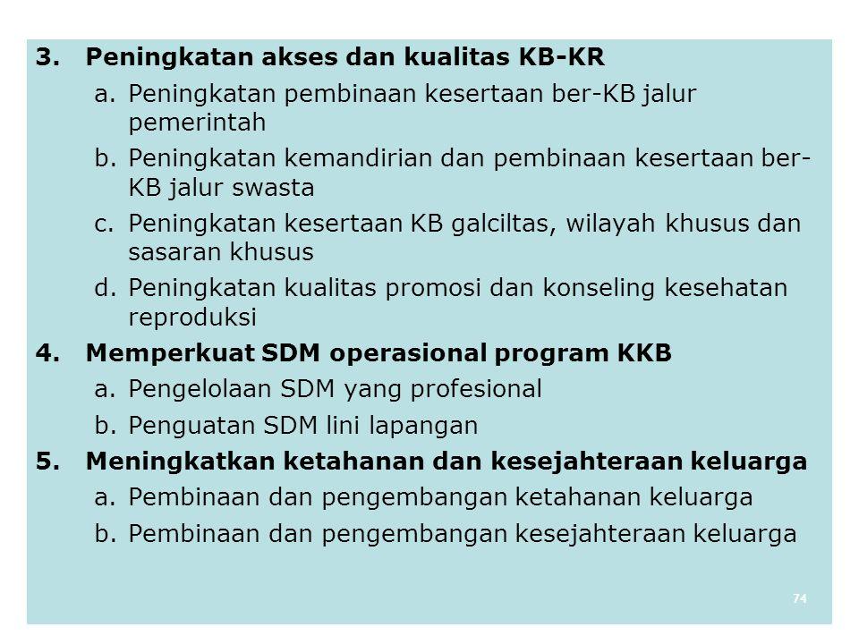 3. Peningkatan akses dan kualitas KB-KR