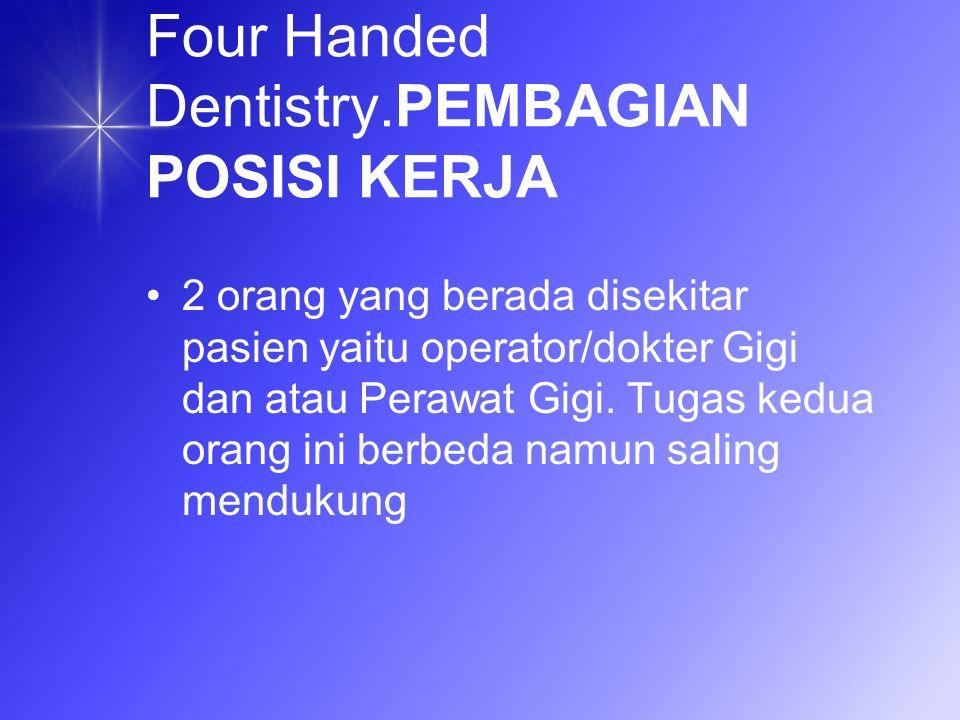Four Handed Dentistry.PEMBAGIAN POSISI KERJA