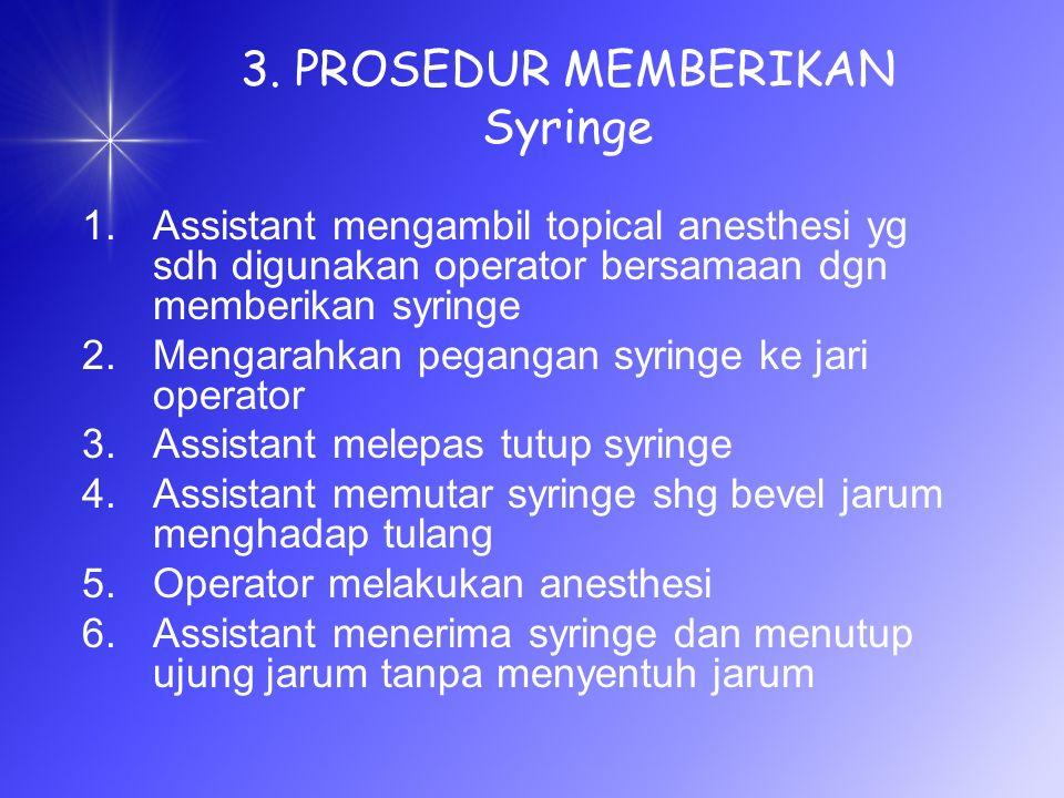 3. PROSEDUR MEMBERIKAN Syringe