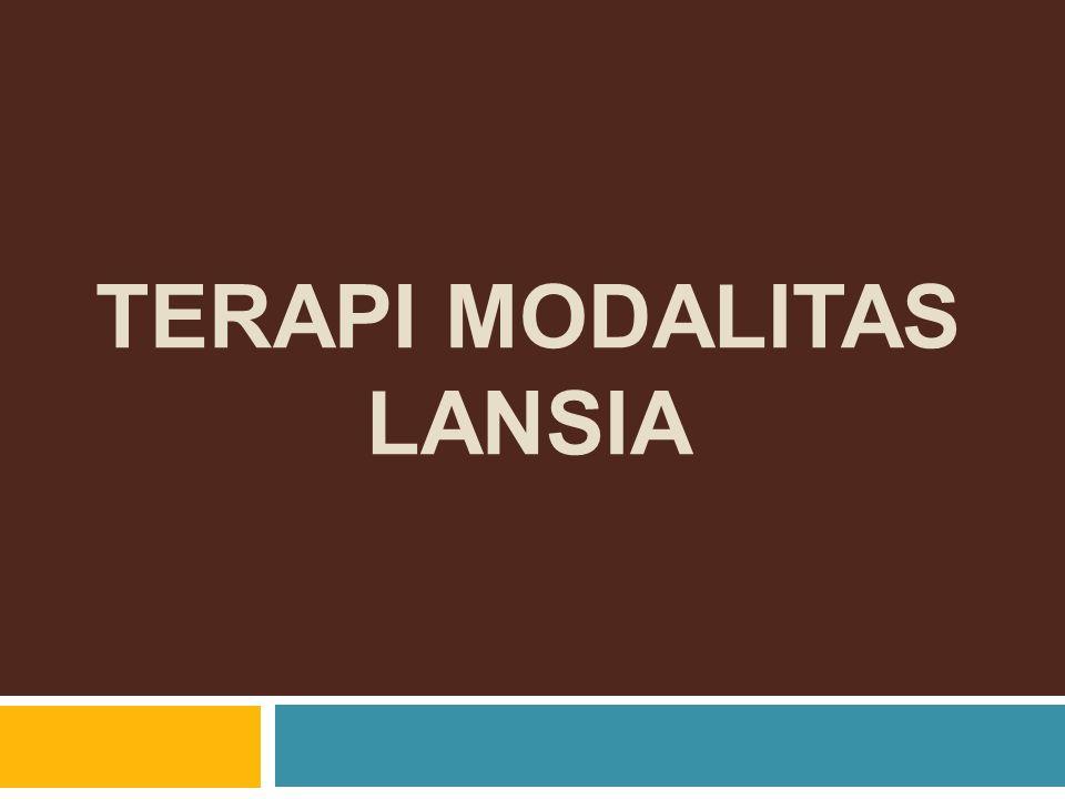 TERAPI MODALITAS LANSIA